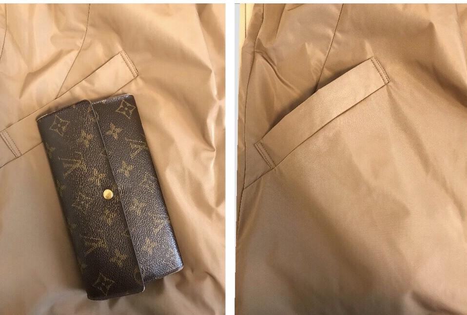 【口コミ評判】ドゥクラッセ・マジカルサーモ リバーシブル・ウールコートのポケットの容量
