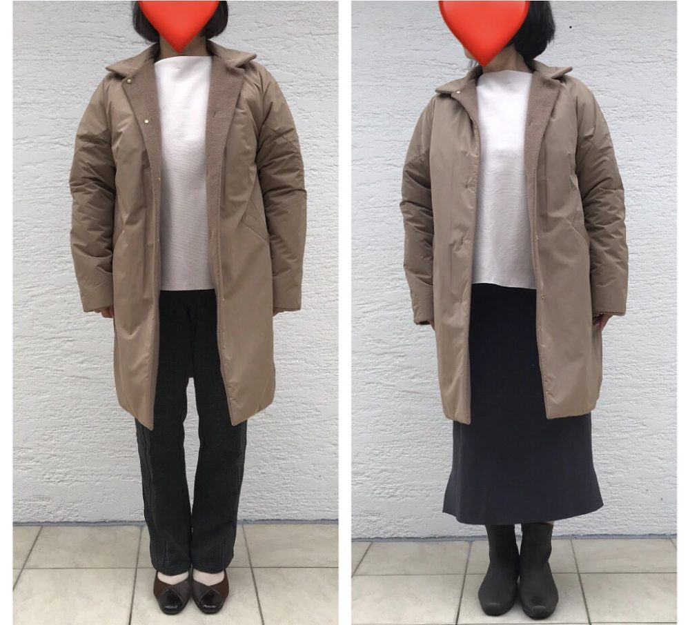 【口コミ評判】ドゥクラッセ・マジカルサーモ リバーシブル・ウールコートのステン面