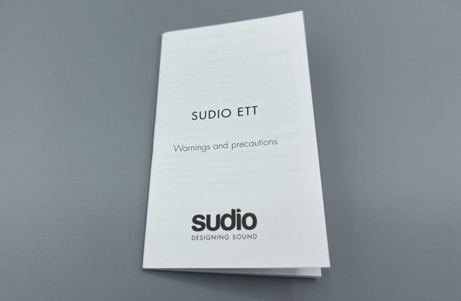 Sudio Ettの取扱説明書