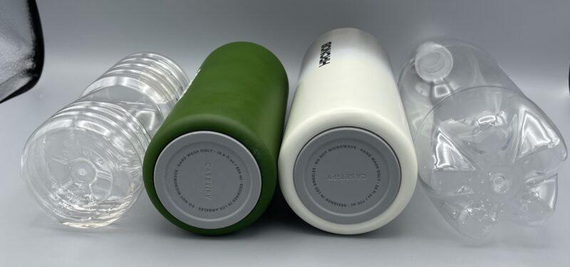 CASETiFY(ケースティファイ)のウォーターボトルの太さを比較