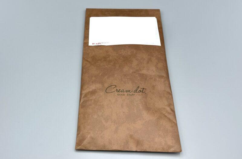 Cream dot(クリームドット)の封筒