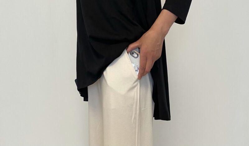BouJeloud×はあちゅうコラボ撥水リラックスワイドパンツのポケット