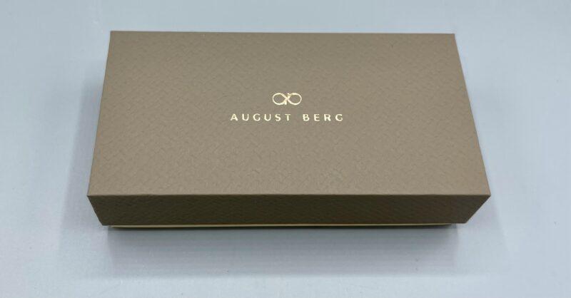 August Berg(オーガストバーグ)の腕時計の箱はサスティンブル