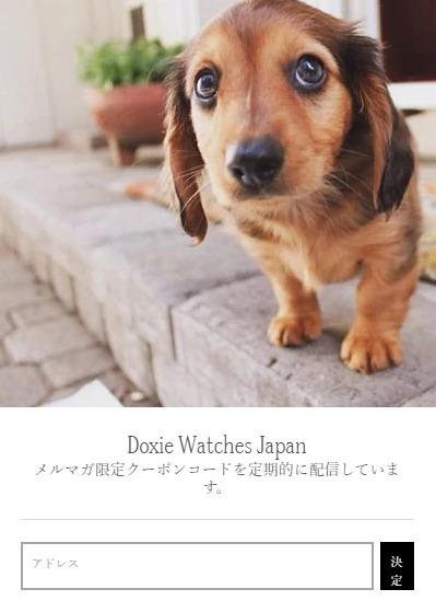 Doxie Watch(ドキシーウォッチ)のメールマガジン限定クーポン